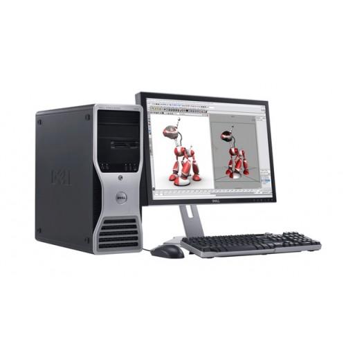 Dell Precision 490 Workstation, Intel Xeon 5110 1.60GHz Dual Core, 4GB DDR2, 160GB SATA, DVD-RW cu Monitor 15 inch LCD