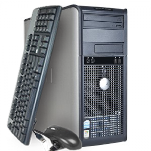 Computer SH Dell OptiPlex GX520 Tower, Pentium D Dual Core 2.8 GHz, 2GB DDR2, 80GB HDD, DVD-ROM
