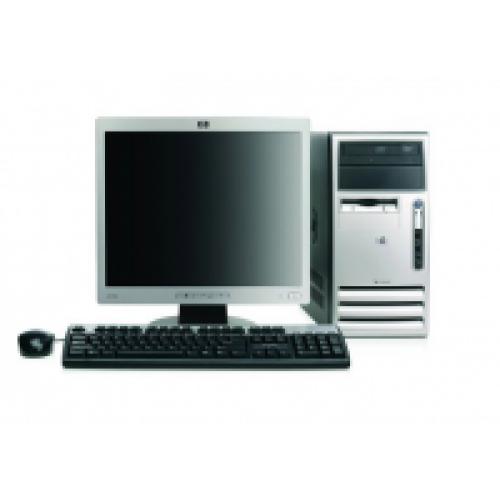Computer HP Compaq DX7300, Tower, Core 2 Duo E6300 1.86Ghz, 3GB DDR2, 80GB HDD, DVD-RW cu Monitor LCD ***