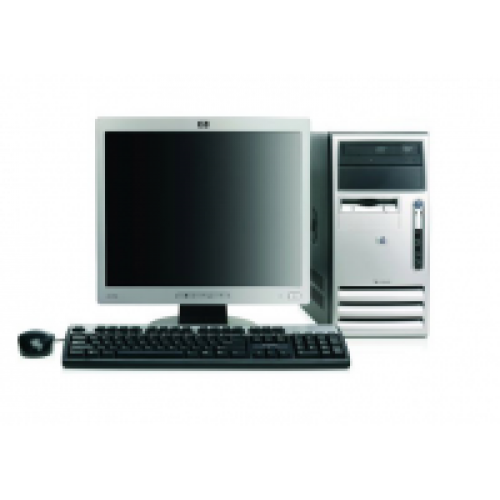 Computer HP Compaq DX7300, Tower, Core 2 Duo E6300 1.86Ghz, 2GB DDR2, 250GB HDD, DVD-RW cu Monitor LCD ***