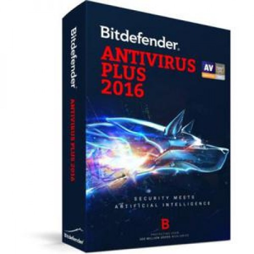 Licenta Bitdefender Antivirus Plus 2016, 1 AN, 1 PC