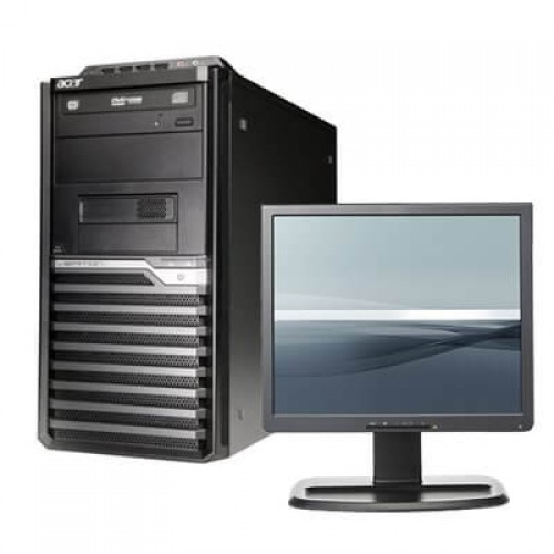 Pachet PC+LCD ACER Veriton M421G Tower, AMD Athlon 64 X2 250 3.00Ghz, 2Gb DDR2 , 160Gb HDD , DVD-ROM
