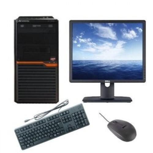 Pachet PC+LCD Gateway DT55 Tower, AMD Athlon II X2 255 3.10GHz , 4Gb DDR3 , 500Gb SATA , DVD-RW