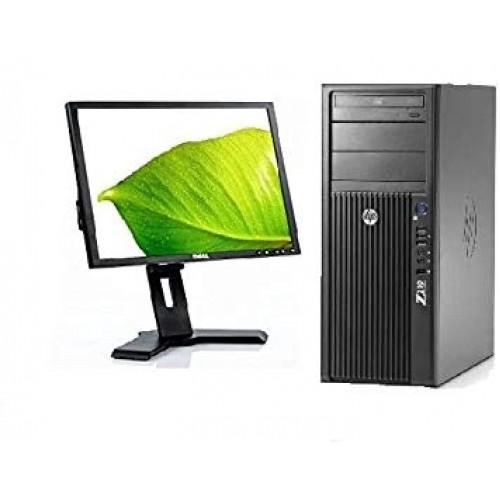 Pachet PC+LCD HP Z210, Intel Core I7-2600 3.4Ghz, 8Gb DDR3, 500Gb SATA2, DVD