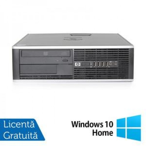 Calculator HP Compaq 8000 Desktop, Intel Core 2 Quad Q9505 2.83GHz, 4Gb DDR3, 250Gb, DVD-ROM + Windows 10 Home