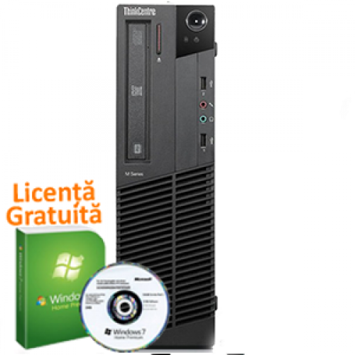 Unitate Calculator Lenovo Thinkcentre M91p SFF, Intel Core i5-2400, 3.4Ghz, 4Gb DDR3, 250Gb HDD, DVD-RW + Windows 7 Professional