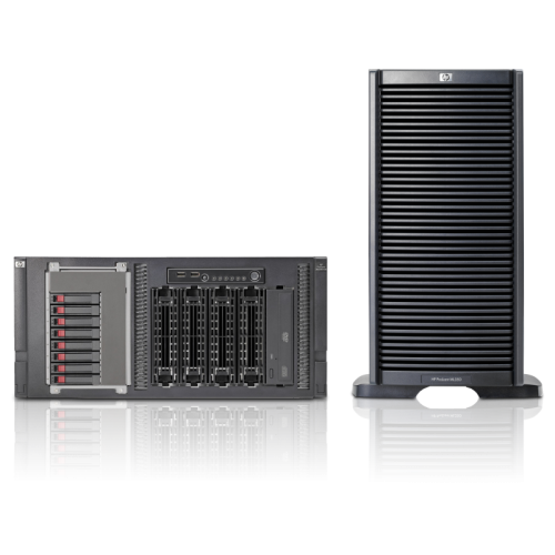 HP Server ProLiant ML350 G6, 2x Intel Xeon Quad Core E5506 2.13, 4Gb DDR3 ECC, Fara HDD, DVD-RW, 2x 460w, Raid P410i