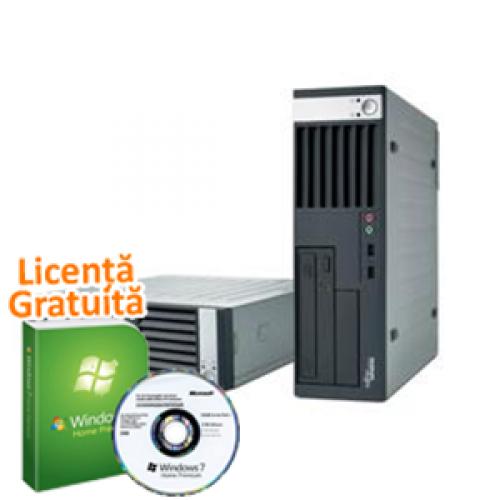 Calculatoare Refurbished Fujitsu Siemens E5925 Desktop, Intel Core 2 Duo E6550, 2Gb DDR2, 80Gb, DVD-RW + Windows 7 Professional