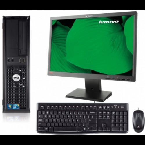 Pachet Dell Optiplex 780 SFF, Intel Dual Core E5300, 2.60Ghz, 2Gb DDR3, 80Gb HDD, DVD-RW + Monitor LCD 15 inch***