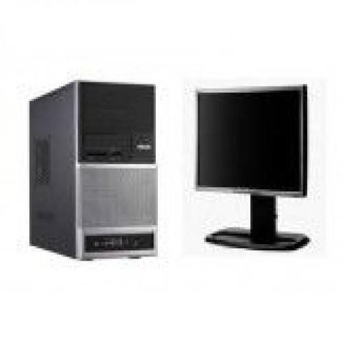 PC Second Hand ASUS V3, Intel Core 2 Duo E6550, 2.33Ghz, 4Gb DDR2, 160Gb SATA, DVD-ROM cu Monitor LCD