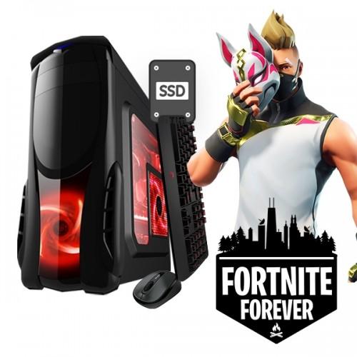 Calculator Gaming Fortnite Tower Intel Core i3-3220 3,30GHz , 8Gb DDR3, 128 SSD + 500 GB HDD - GTA5, CS-GO, Fortnite