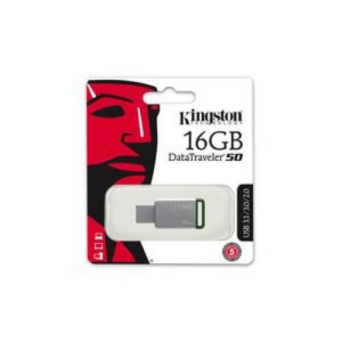 Stick memorie Kingston DataTraveler l Gen 4 16GB Alb-Albastru