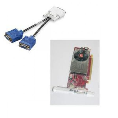 Placa Video Ati Radeon HD 3450, 256mb, PCI-express, DMS-59, S-Video, low profile design + adaptor DMS-59 la 2 x VGA