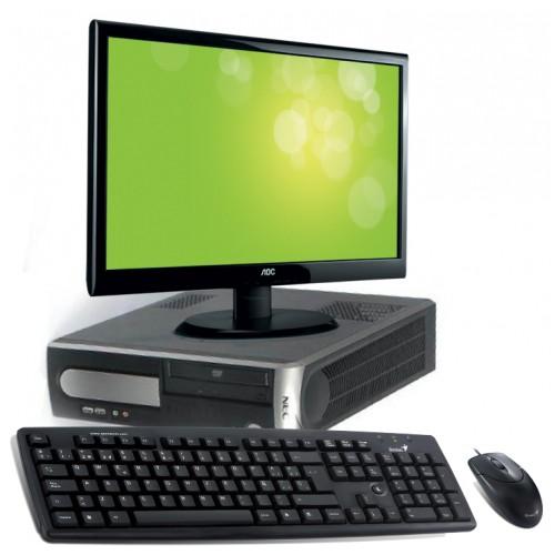 Calculator SH NEC VL360 Dual Core AMD x2 64 5600+ 2.8Ghz, 2Gb DDR2, 160Gb DVD-ROM cu Monitor LCD