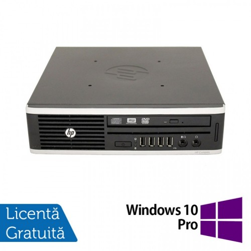 Calculator HP 8200 Elite USFF, Intel Core i5-2500 3.30GHz, 4GB DDR3, 250GB SATA + Windows 10 Pro, Refurbished