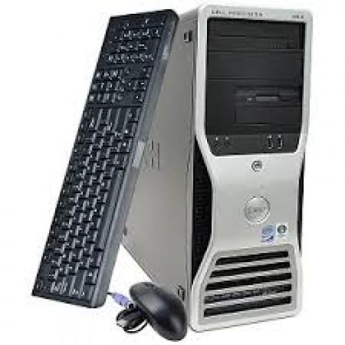 Workstation Dell Precision T3400, Intel Core 2 Quad Q6600, 2.4Ghz, 4GB DDR3, 250Gb, DVD