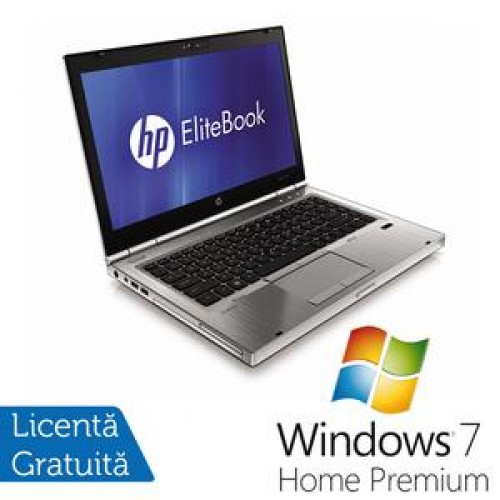 Hp EliteBook 8460p, Intel Core i5-2520M Gen. 2, 2.5Ghz, 8Gb DDR3. 500Gb SATA II, DVD-RW, 14 inch LED-Backlit HD + Windows 7 Home Premium