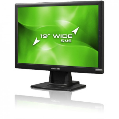 Monitor Second Hand LCD Hyunday X90W, 19 inch, 1440 x 900 dpi at 75Hz, Widescreen 16:10, 16.7 milioane culori