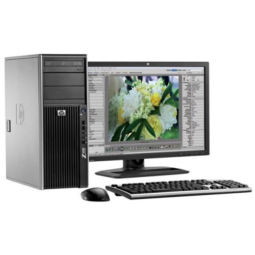 PC Hp Z400 WorkStation, Intel Xeon Quad Core W3503, 2.4Ghz, 8Gb DDR3, 250Gb HDD, DVD-RW cu Monitor LCD